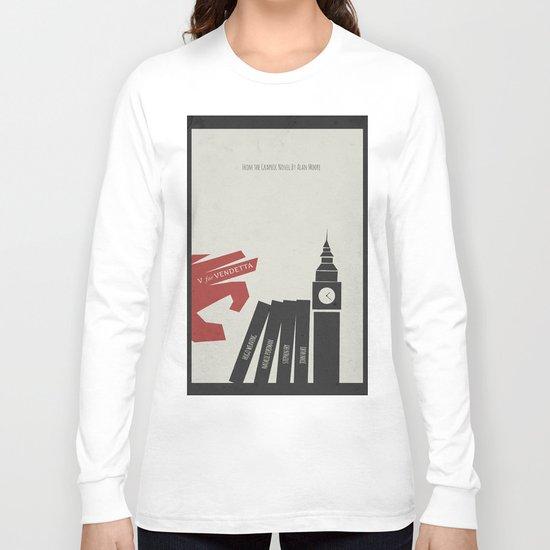 V Vendetta, Alternative Movie Poster, graphic novel by Alan Moore Long Sleeve T-shirt