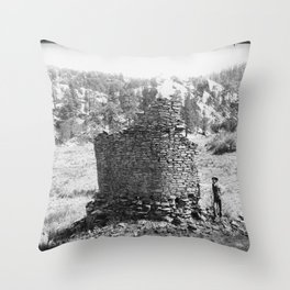 Ruins Near Ft Wingate, New Mexico Throw Pillow