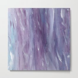 Touching Purple Blue Watercolor Abstract #1 #painting #decor #art #society6 Metal Print