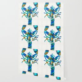Blue Lobster Art by Sharon Cummings Wallpaper