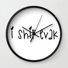 SKAM - I ship Evak Wall Clock