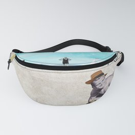 Morning on the beach Fanny Pack