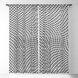 Black And White Mesh Twist Sheer Curtain