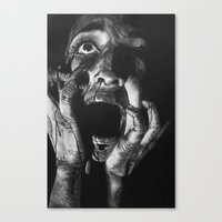 scream Canvas Prints featuring Scream by OShelby ART