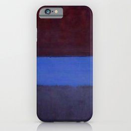 No. 61 (Rust and Blue) - Mark Rothko iPhone Case
