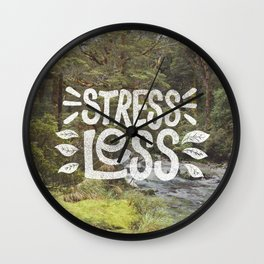 Stress Less Wall Clock