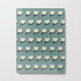 Cute cat pattern Metal Print