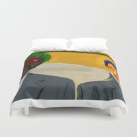 pulp Duvet Covers featuring Emotional Pulp by Factory Three