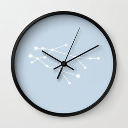 Gemini Zodiac Constellation - Pastel Blue Wall Clock
