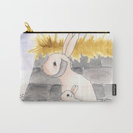 Long Haired Jackalope and baby Carry-All Pouch