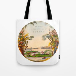 Historical Vintage Hand Drawn Illustration of Guyana South America Natural Scenes Tote Bag