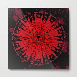 Heavy Metal Mandala Metal Print