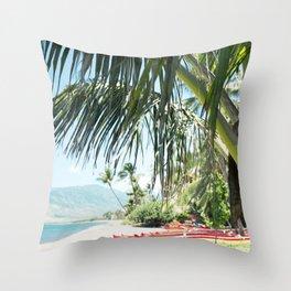 Aloha Sugar Beach Throw Pillow