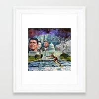 usa Framed Art Prints featuring USA by TRASH RIOT