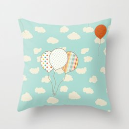 Balloons that Fly Throw Pillow