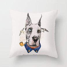 Mr. Great Dane Throw Pillow
