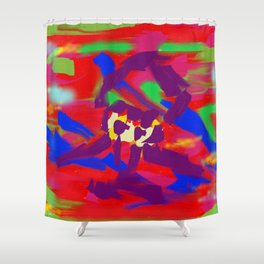 Forced Shower Curtain