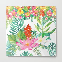 Aloha Tropical Flowers Hawaii Metal Print