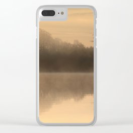 Misty Tranquility Clear iPhone Case