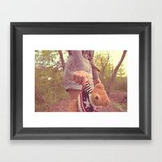 my little friend Framed Art Print