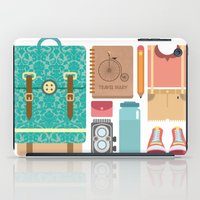 tote bag iPad Cases featuring Pack Your bag and Go Everywhere by MASKCROW