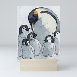 Penguin family 515 Mini Art Print