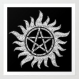 Carry On Supernatural Pentacle Art Print