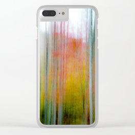 Autumn Abstract #8 Clear iPhone Case