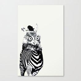 Zebrowl Canvas Print