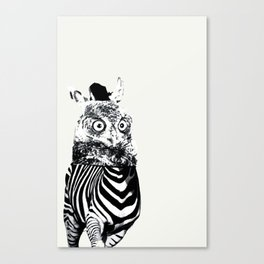 Zebrowl Canvas Print