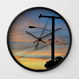 A Sunset is the Elusion of Peace Wall Clock