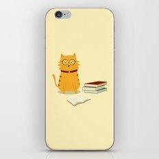 Nerdy Cat iPhone & iPod Skin