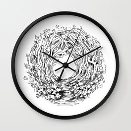 Forest Light Circle Nature Flow Wall Clock
