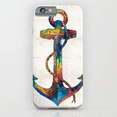 Nautical Anchor Art - Anchors Aweigh - By Sharon Cummings iPhone 6s Slim Case
