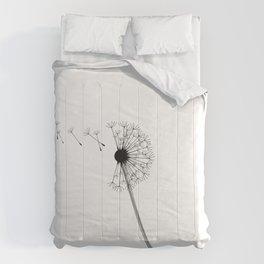 Dandelion Black and White Comforters