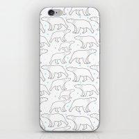 polar bear iPhone & iPod Skins featuring polar bear by LOLIA-LOVA