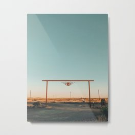 El Cosmico Sign, Marfa, West Texas Metal Print