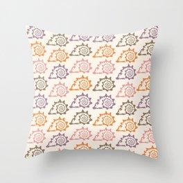 Pastel Marine Pattern 12 Throw Pillow