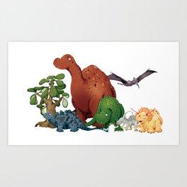 Dinosaur Party Art Print