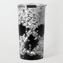 Geometric Light Grey Skull Composed Of Triangles Travel Mug