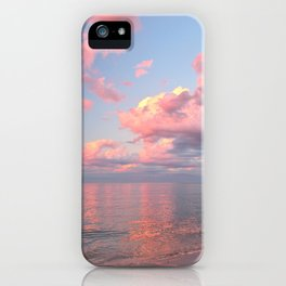 Pink Skies at Night, landscape view iPhone Case