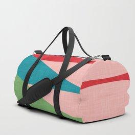 Mid century Modern Waves Pink Duffle Bag
