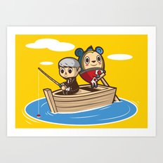 Social Fishing Art Print