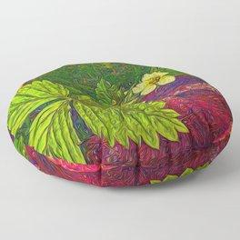 Wild Strawberry Plant Floor Pillow