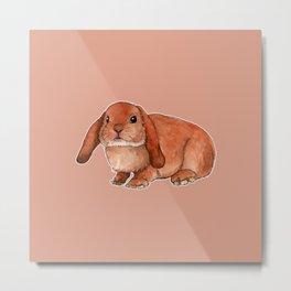 Red rabbit ram Metal Print