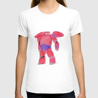 baymax T-shirts featuring baymax  by Art_By_Sarah