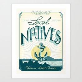 Local Natives Gig Poster Art Print