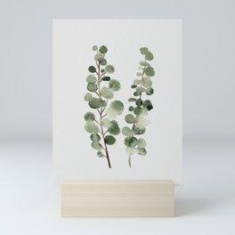 Eucalyptus (watercolor finger painting) Mini Art Print