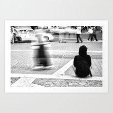 New York City Skaters #2 Art Print