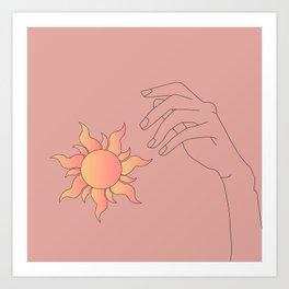 to get the sun Art Print